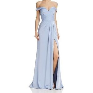 Faviana coulture NWT off shoulder baby blue gown